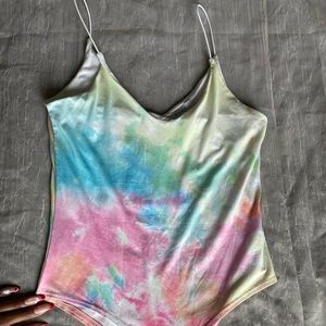 Gaze Pastel Colored Tie Dye Bodysuit
